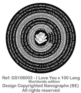 GS106003 - I Love You x 100 Lang-Worldwide Edition
