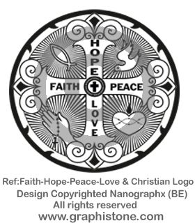 06 Faith-Hope-Peace-Love & Christian Logo