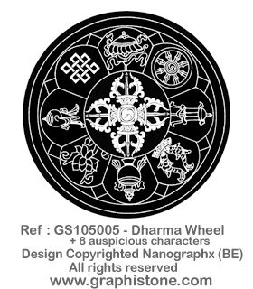 GS105005 - Dharma Wheel+8 Aus Charac