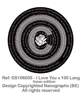 GS106005 - I Love You x 100 Lang-Asian Edition
